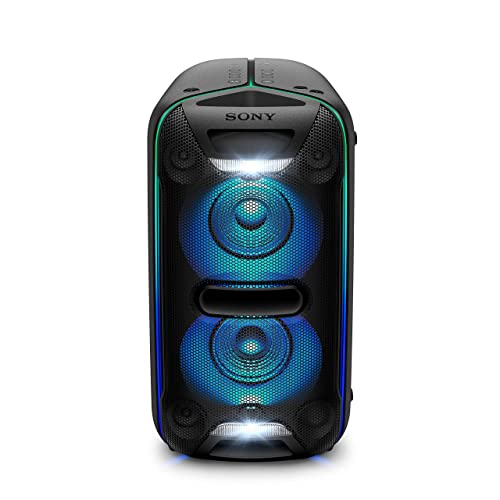 Sony GTK XB72 Sistema de Audio de Alta Potencia Altavoz para Fiesta de Alta Potencia Extra Bass Bluetooth Live Sound NFC Luces LED Efectos de DJ configuración Vertical y Horizontal Negro