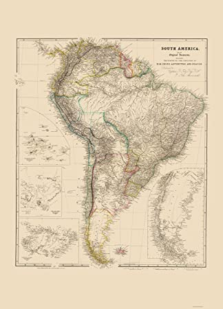 Amazon Old South America Map Arrowsmith 1844 23 x 31 95