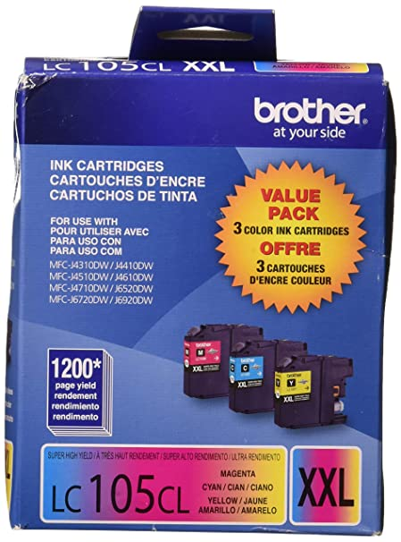 Brother International LC1053PKS 3 Pack LC105C M Y: Amazon in