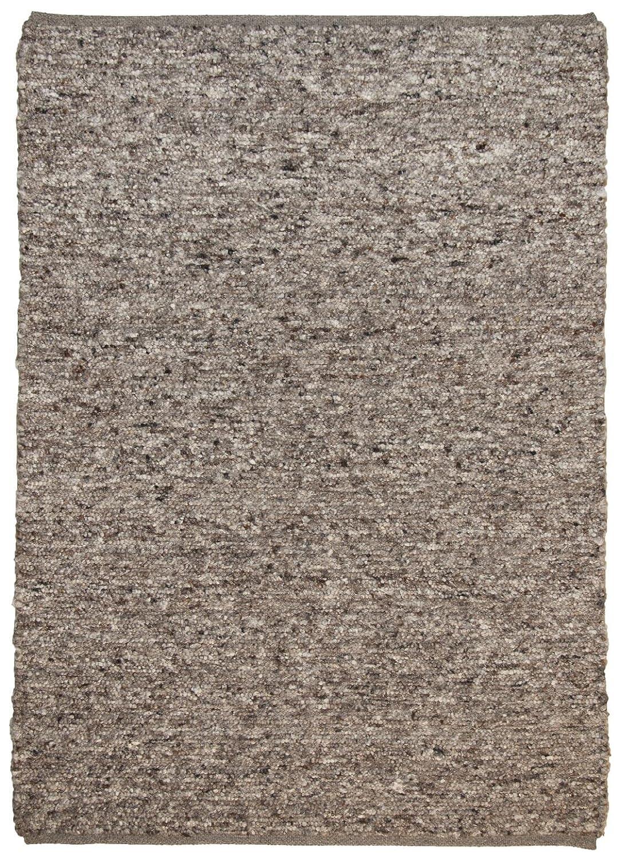 Theko Webteppich handgewebt aus 100% Reiner Schurwolle, Diverse Farben & Melierungen, Farbe Braun, Größe 70 x 130 cm