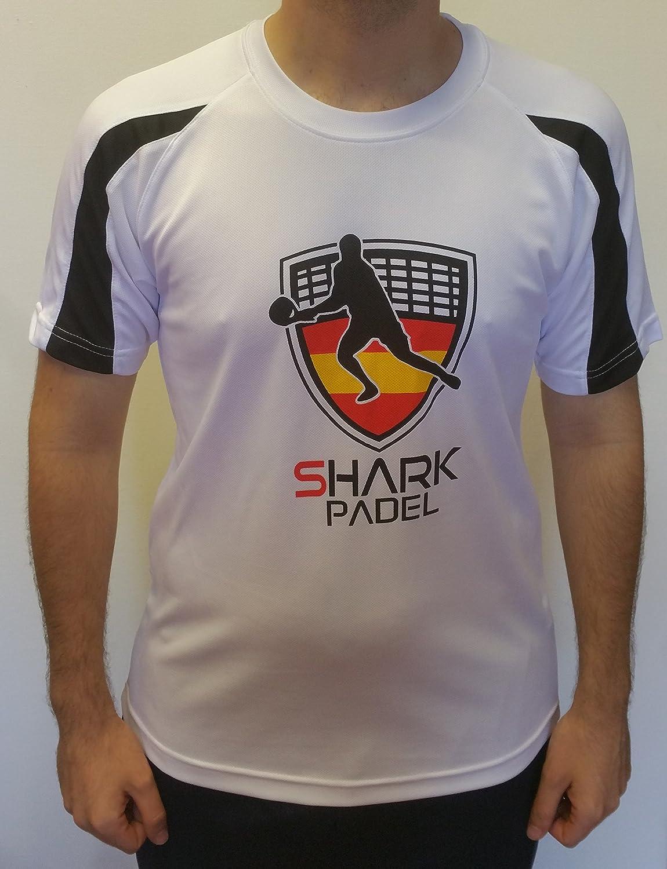 Shark Padel Camiseta Tecnica COMBINADA: Amazon.es: Deportes y aire ...