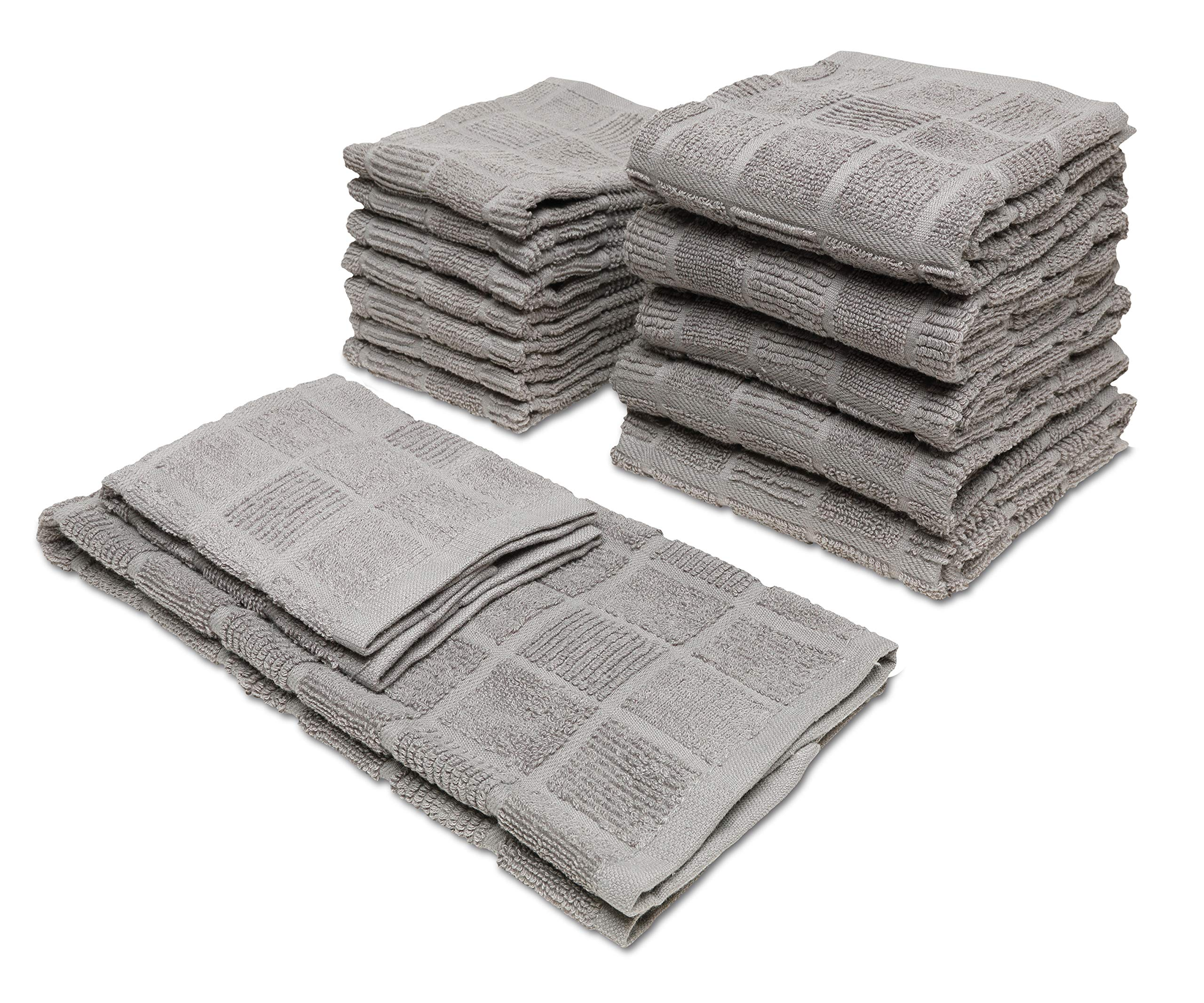 Popular Home 934564 Aria Kitchen Towel, One Size, Steel-Grey