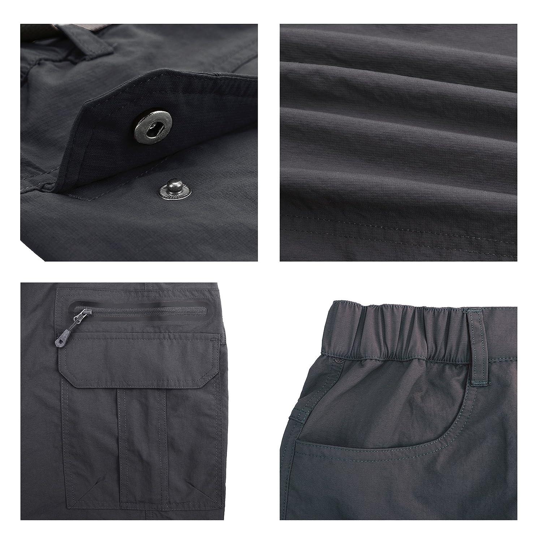 Kolongvangie Mens Quick Dry Cargo Shorts with Belt