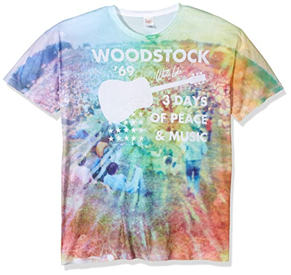 Opaque Manches Woodstock Blanc Courtes T Homme Shirt 3ALRq4j5