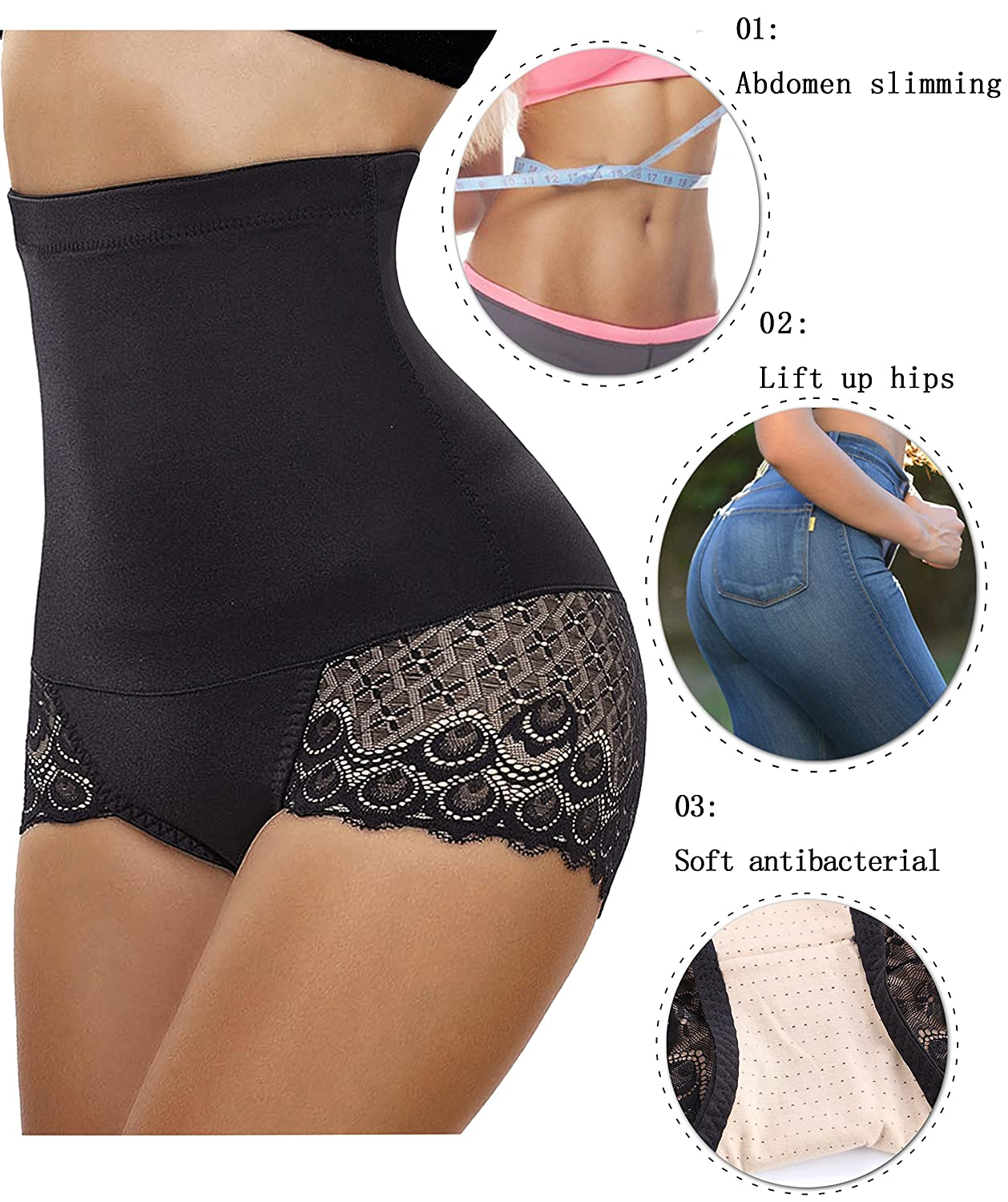 Gotoly Invisable Strapless Body Shaper High Waist Tummy Control Butt Lifter Panty Slim