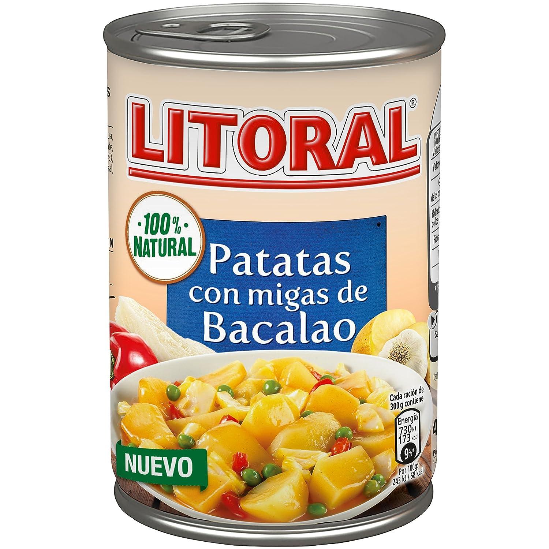 LITORAL Guiso de Patatas con migas de Bacalao - Plato Preparado de Guiso de patatas Sin Gluten - 420g: Amazon.es: Alimentación y bebidas