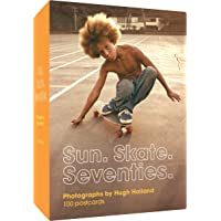 """Sun. Skate. Seventies.: 100 Postcards: €"""" Box of Collectible Postcards Featuring Lifestyle Photography from the Seventies, Great Gift for Fans of Vintage Photography, Fashion, and Skateboarding"""