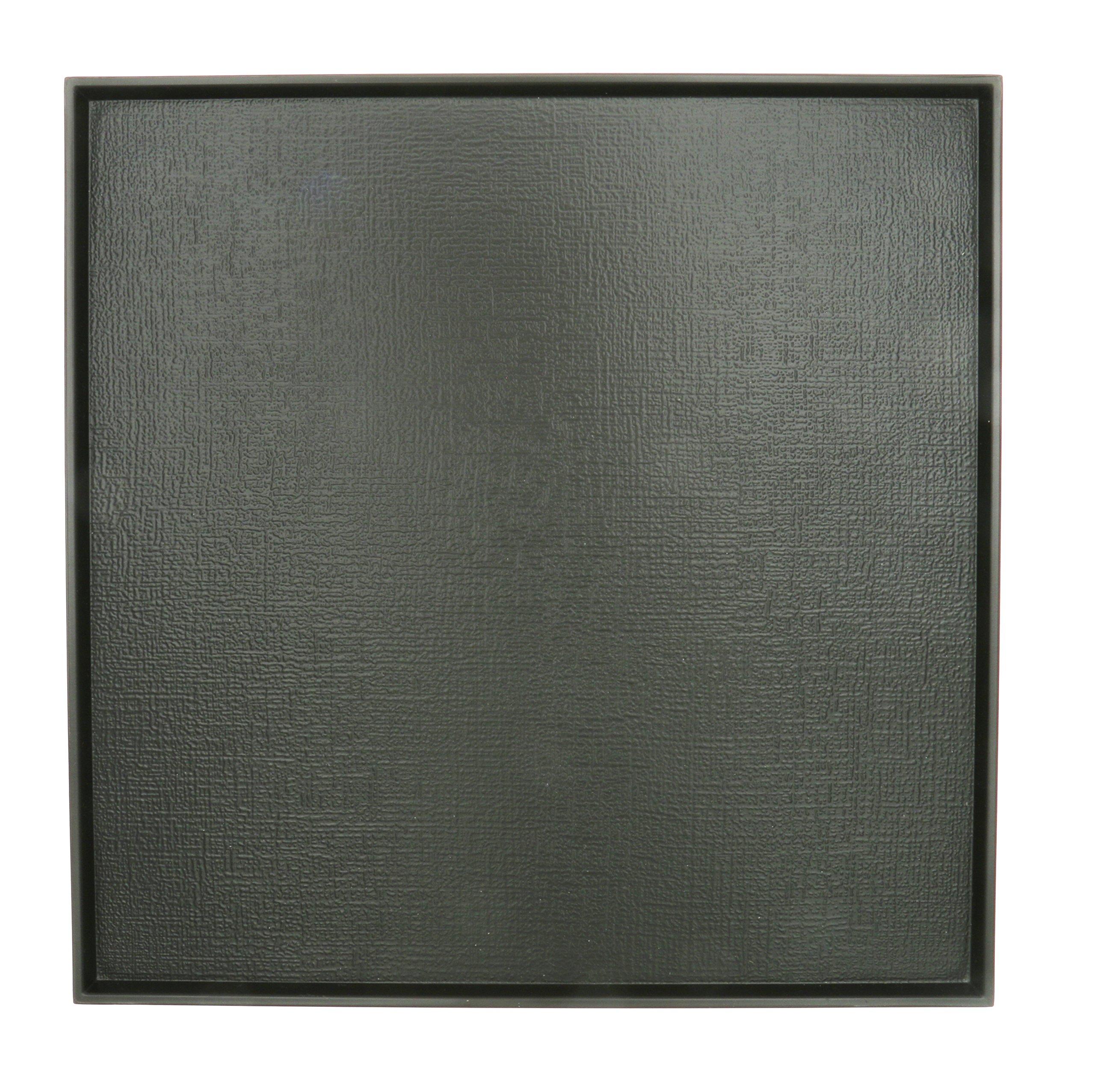 Kotobuki 270-951 Square Textured Non-Slip Serving Tray, 13'', Black