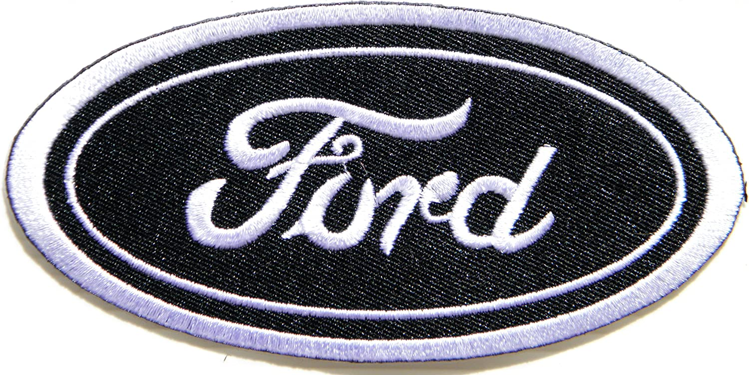 EMBROIDERED BATH OR GYM WHITE TOWELS  CAR LOGO FORD 3 PIECE SET