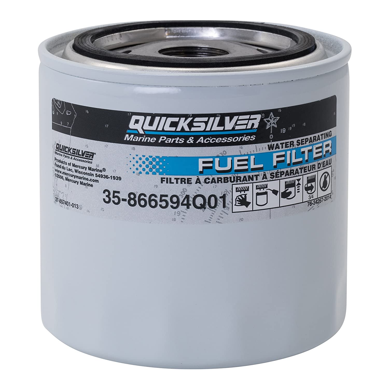 Amazon.com: Quicksilver 866594Q01 Water Separating Fuel Filter - MerCruiser  Vazer and 3.0L MPI EC Engines: Sports & Outdoors
