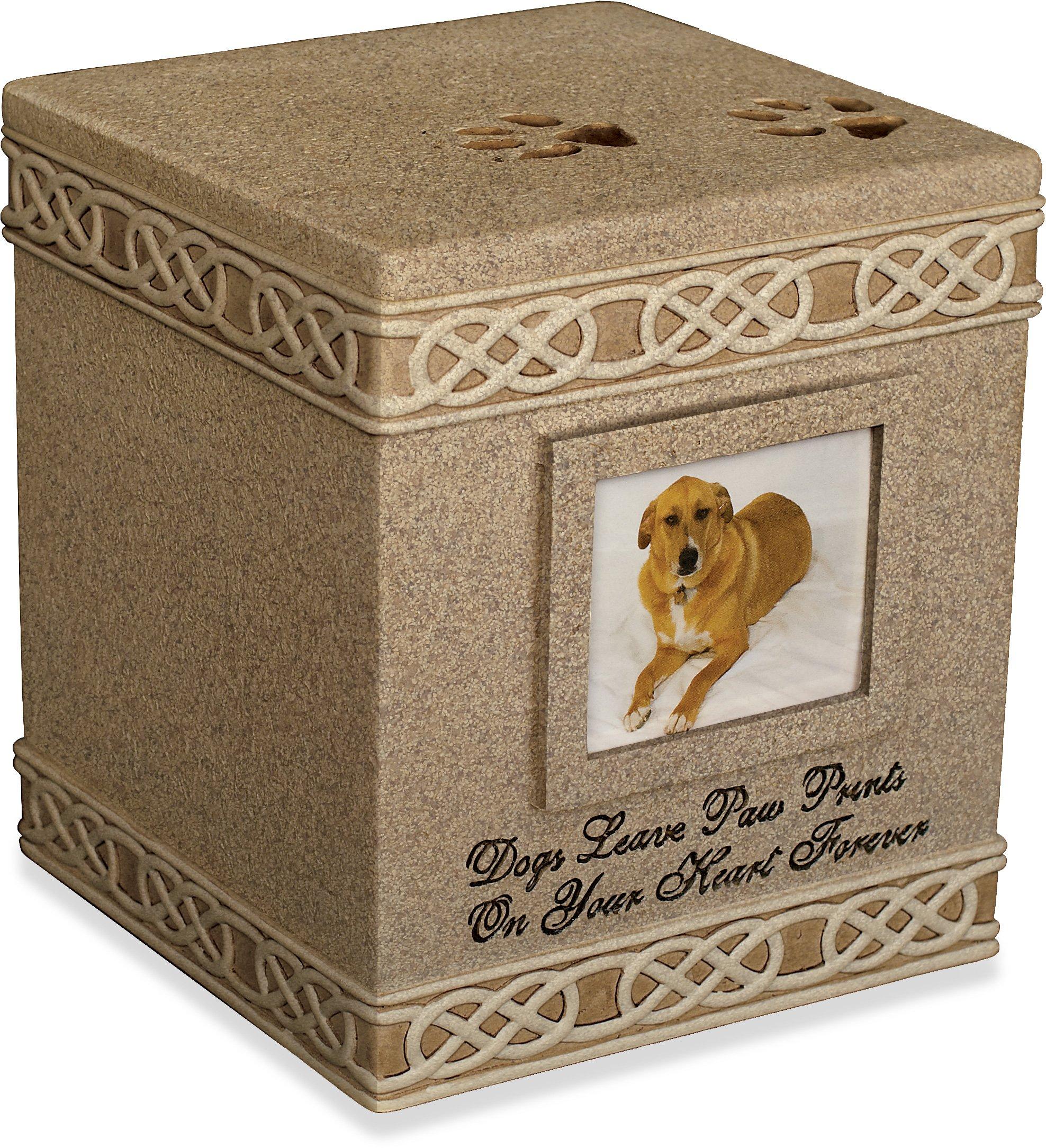 dog supplies online angel star 6-inch pet urn for dog, dark brown