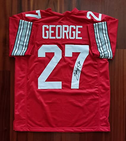 save off 6819a afdf8 Eddie George Autographed Signed Jersey Ohio State JSA at ...