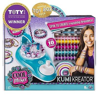 Cool Maker, KumiKreator Friendship Bracelet Maker, Makes Up to 10 Bracelets, for Ages 8 and Up: Toys & Games