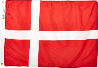 product image for Annin Flagmakers Model 192185 Denmark Flag Nylon SolarGuard NYL-Glo, 2x3 ft, 100% Made in USA to Official United Nations Design Specifications