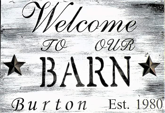 460a42949cf5e Amazon.com: Personalized Welcome To Our Barn Sign, Hand Painted ...