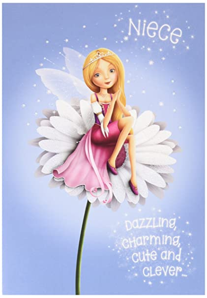 Image Unavailable Not Available For Color Fairy Sparkle Niece Happy Birthday Greeting Card