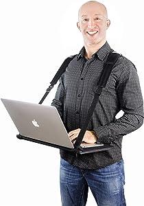 """VitaliZEN Laptop Harness New Large Improved Design, Hands-Free Portable, Adjustable, Wearable Desk for 17"""" Laptops, Tablet, Notepad, MacBook, etc"""