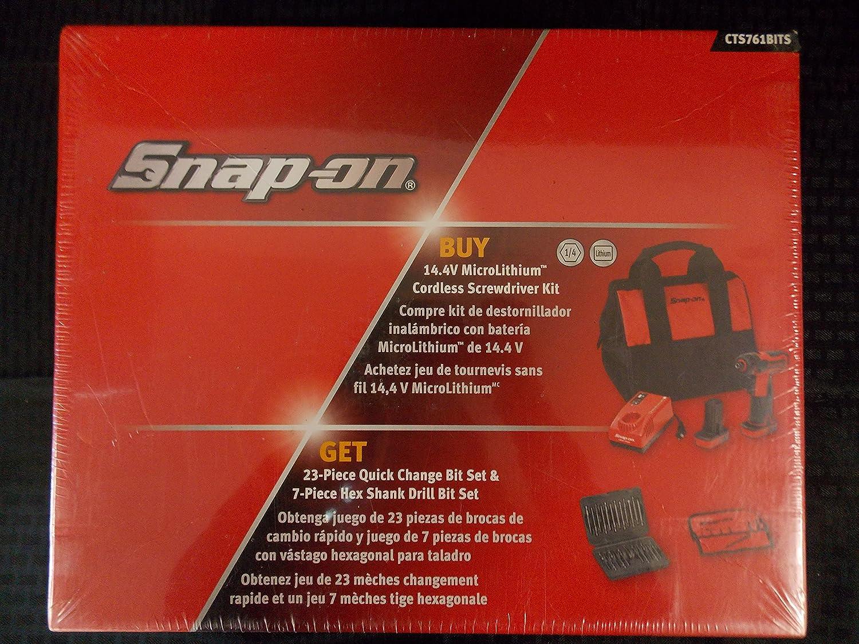 Amazon.com: Snap-On 31 Piece, 14.4V Cordless Screwdriver, 23 Piece ...