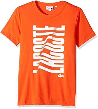 2822efe5 Lacoste Men's Tennis Short Sleeve Vertical Graphic T-Shirt