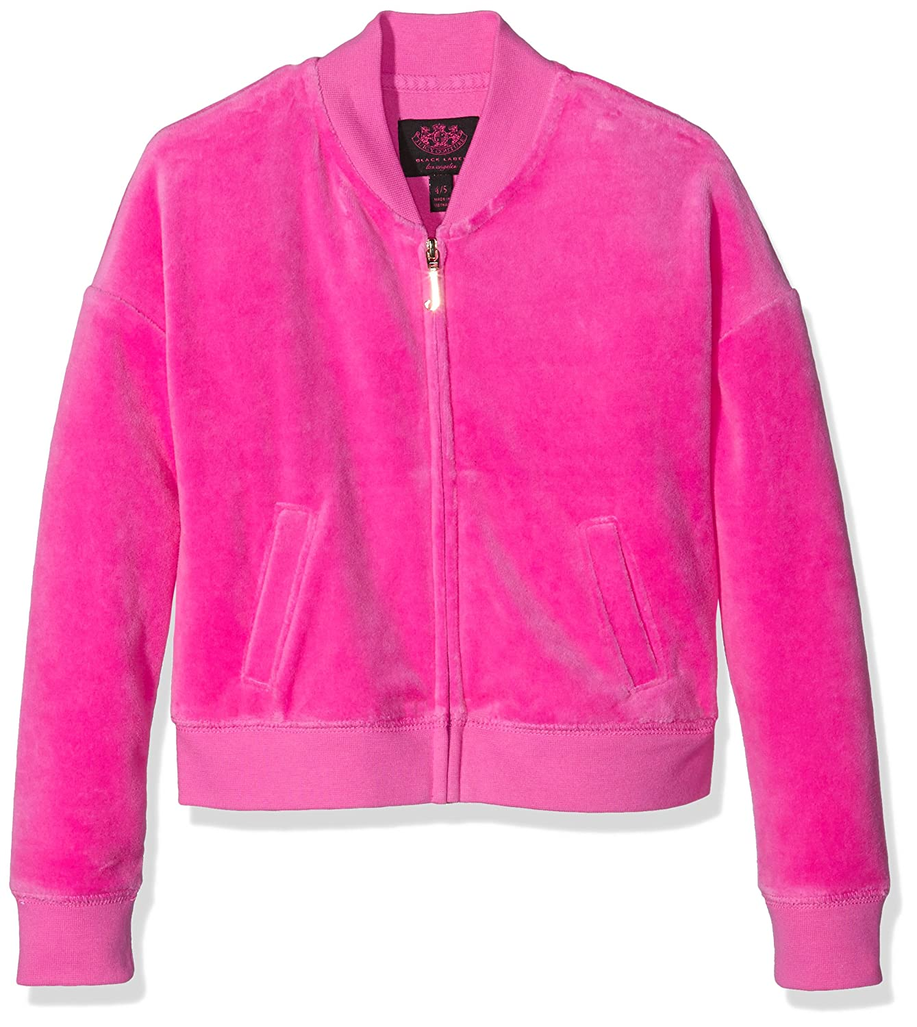 Juicy Couture, uk apparel, JUII9 Mädchen Kapuzenpullover Logo Vlr Glam Ring Wd Jacket