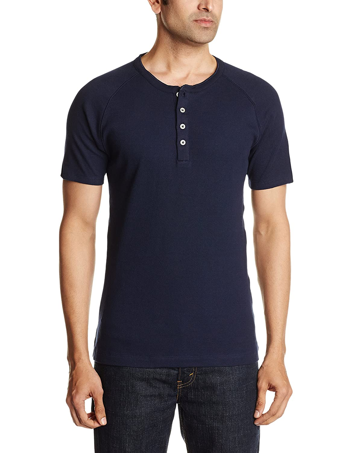 fdca4b269e5 Levi's Men's T-Shirt (300 Henely SS Navy Blazer XL): Amazon.in: Clothing &  Accessories