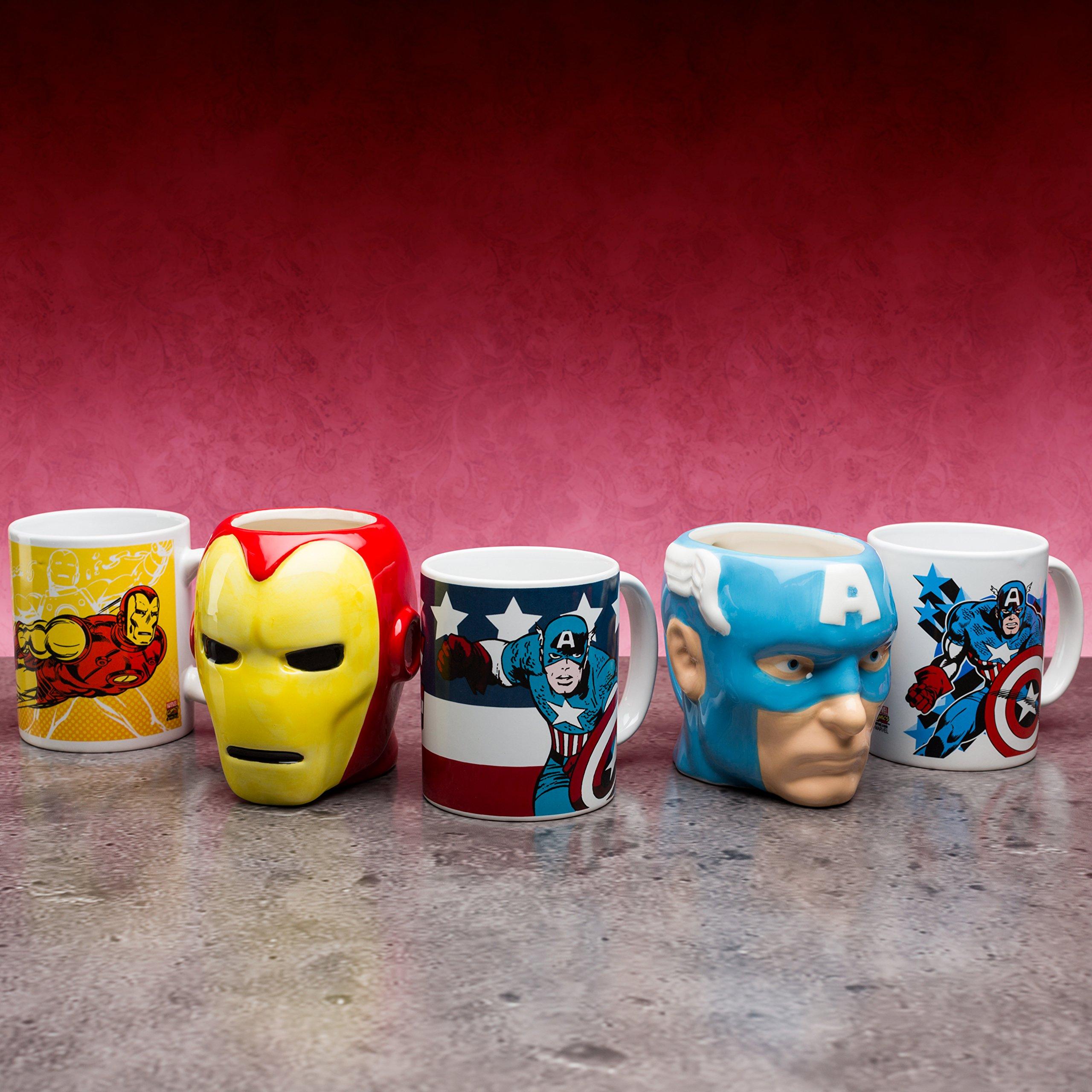 Zak Designs MRTI-8513 Marvel Comics Sculpted Ceramic Coffee Cup, Captain America by Zak Designs (Image #3)