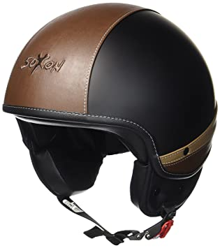 SOXON SP-301-URBAN Black Retro Cruiser Casco Demi-Jet Vespa Urbano Mofa