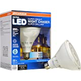 SYLVANIA Ultra LED Night Chaser PAR38 250W Equivalent 2400 Lumen, Replacement for Halogen Flood Spot Light Medium Base E26, Dimmable 5000K - Daylight/Cool White