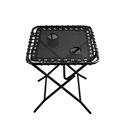 Outdoor Side Table Patio Folding Heavy Duty Coffee Table with Cup Holders for Picnic Outdoors: Kitchen & Dining