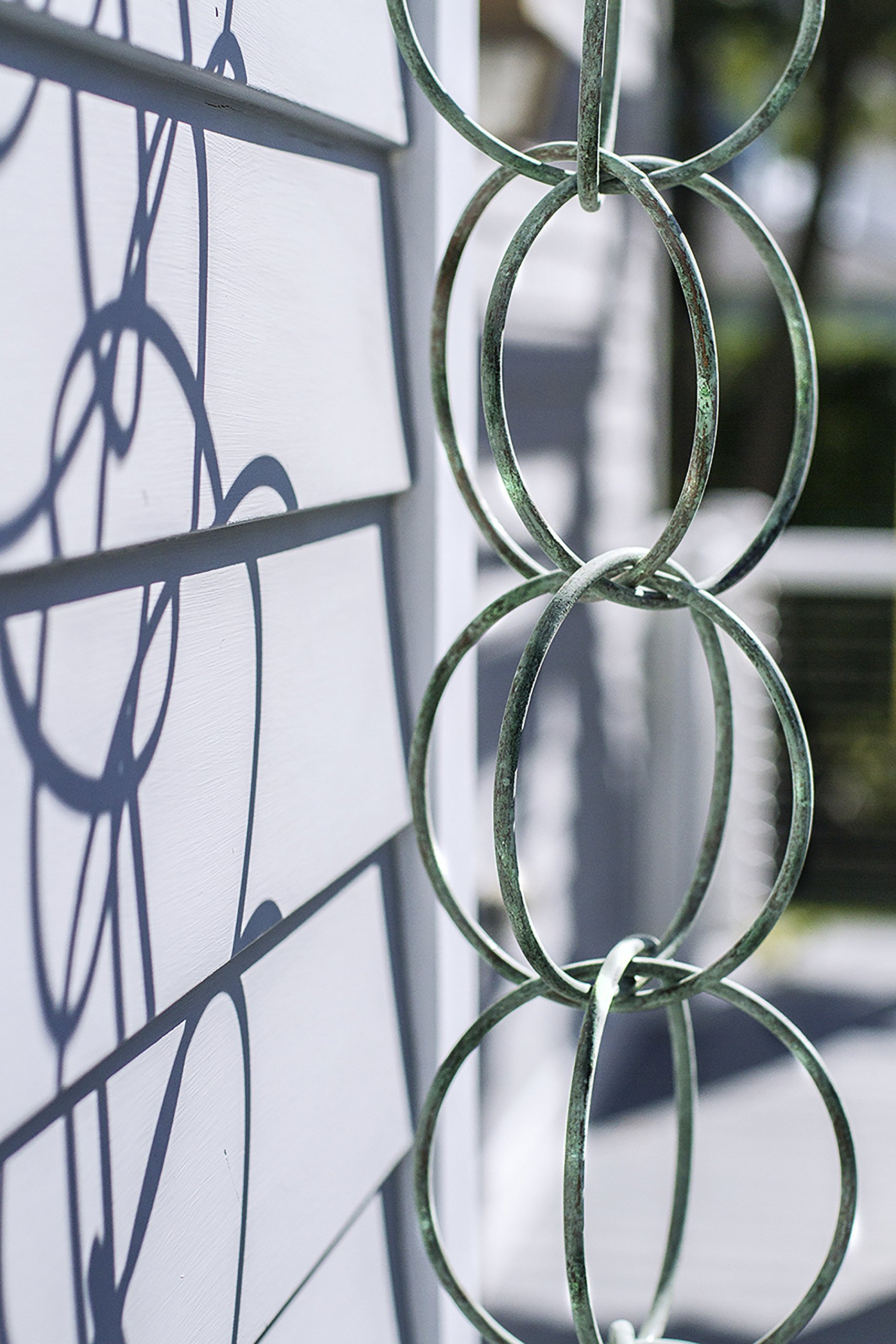 Good Directions Double Link Pure Blue Verde Copper 8.5-Foot Rain Chain Leader