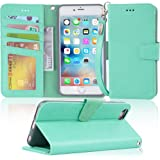 """Arae wallet case for iPhone 6s Plus / iPhone 6 plus [Kickstand Feature] PU leather with ID&Credit Card Pockets For Iphone 6 Plus / 6S Plus 5.5"""" (not for 6/6s) (Green)"""