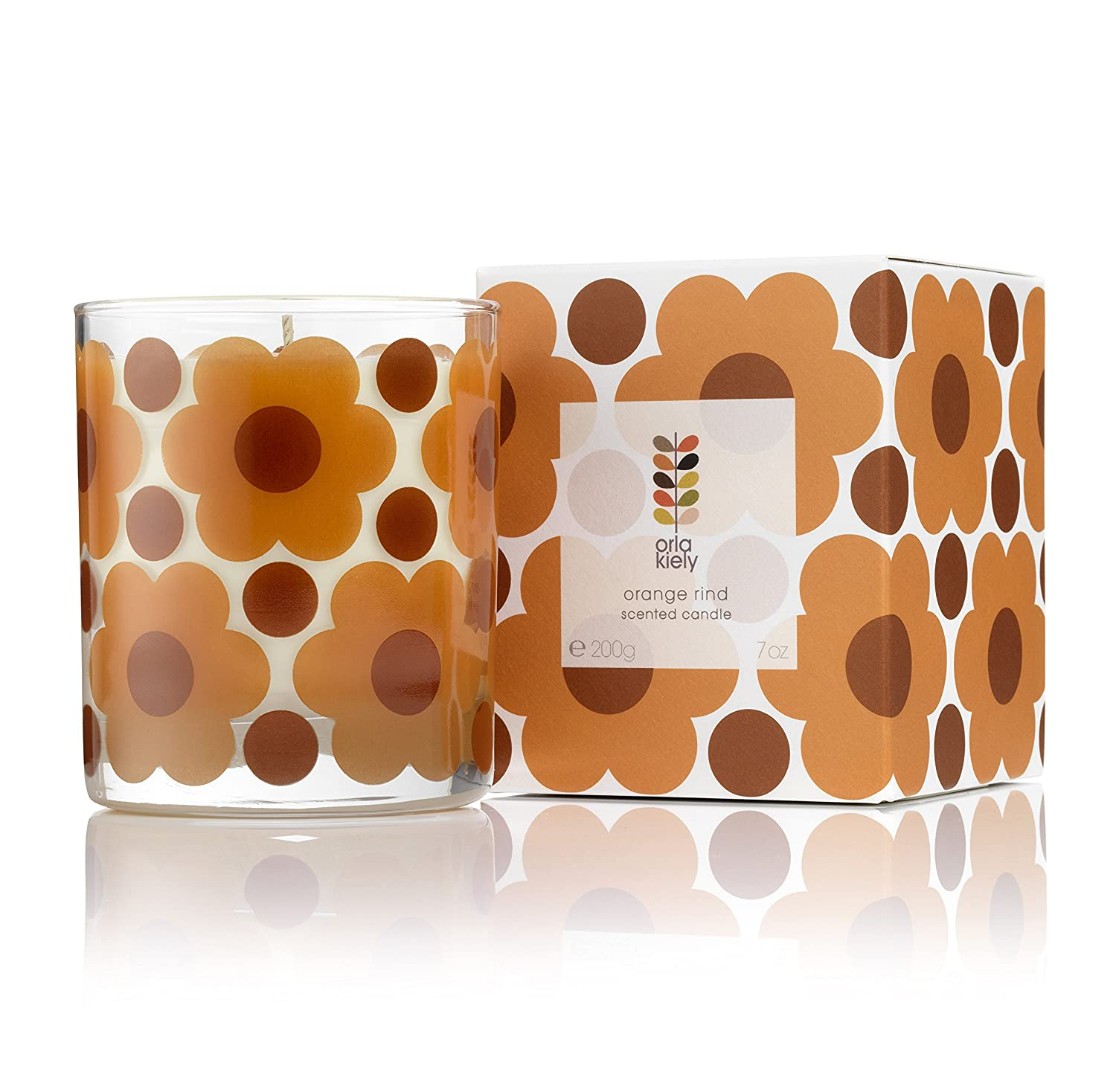 Home by Orla Kiely Orange Rind Scented Candle by Orla Kiely KMI Brands OKHHM0609