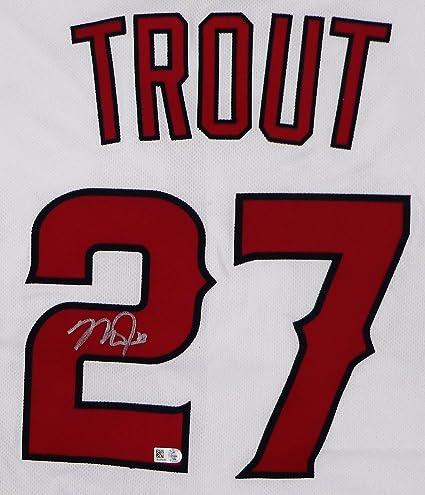 premium selection d6bcf 6a944 Mike Trout Autographed Authentic White Angels Jersey - MLB ...