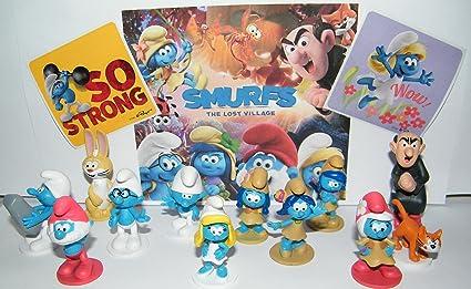 Smurfs Papa Smurfette Cat Azrael Gargamel 12 Figures Figurines Cake Topper Doll