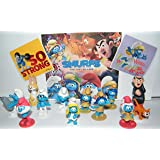 The Lost Village Smurfs Deluxe Figure Toy Set of 14 with Figures and Stickers Featuring The Classic Smurfs and Many New…