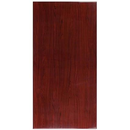 Merveilleux Flash Furniture 30u0027u0027 X 60u0027u0027 High Gloss Mahogany Resin Table Top