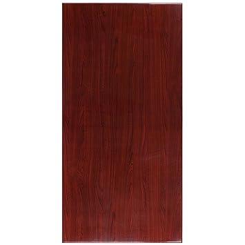 Flash Furniture 30u0027u0027 X 60u0027u0027 High Gloss Mahogany Resin Table Top