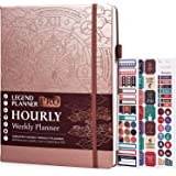 Legend Planner PRO Hourly Schedule Edition – Deluxe Weekly & Daily Organizer with Time Slots. Time Management Appointment Boo