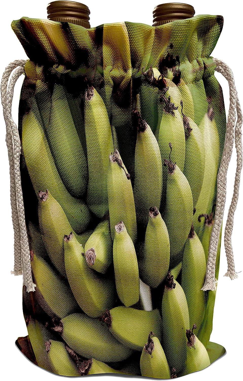 3dRose Danita Delimont - Food - French Polynesia, Mangareva, Rikitea. Close up of bunch of bananas. - Wine Bag (wbg_228541_1)