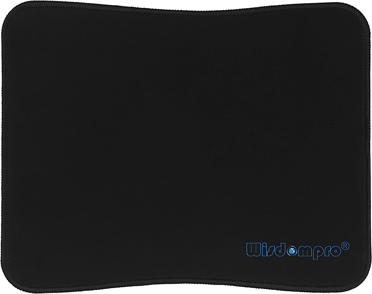 Wisdompro Mouse Pad Mouse Mat with Black Stitched Edges, Ultra Thin Non-Slip Rubber Base Mousepad for Laptop, Computer & PC, 8.2 x 10.2 Inches (20.8X 25.8cm) - 1 Pack Black Edge