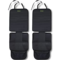 Car Seat Protector, Black (2-Pack) by Drive Auto Products
