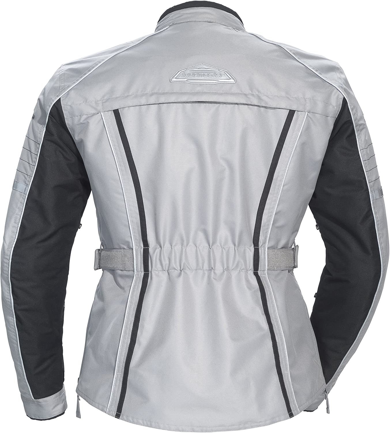 Silver Tour Master Trinity 3.0 Womens Street Racing Motorcycle Textile Jacket Plus Small