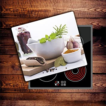 Compra Damu | planchas protectoras para cocina (cristal endurecido, inducción, vitrocerámica fogones 60 x 52 cm) para cocina estufa Pantalla para cubrir los ...