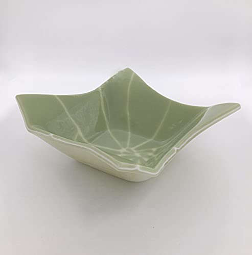 Amazon Fused Glass 40 Decorative Origami Bowl In Light Green Gorgeous Cream Decorative Bowl