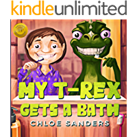 My T- Rex Gets a Bath: Shows kids why it's important to take good care of yourself childrens, baby books, ages 3 5