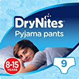 Huggies DryNites Pyjama Pants for Boys, Age 8-15 - 9 Pants Total