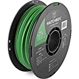 HATCHBOX 3,00 mm Grünes PLA-Filament für 3D-Drucker - 1 kg-Spule - Maßgenauigkeit +/- 0,05 mm