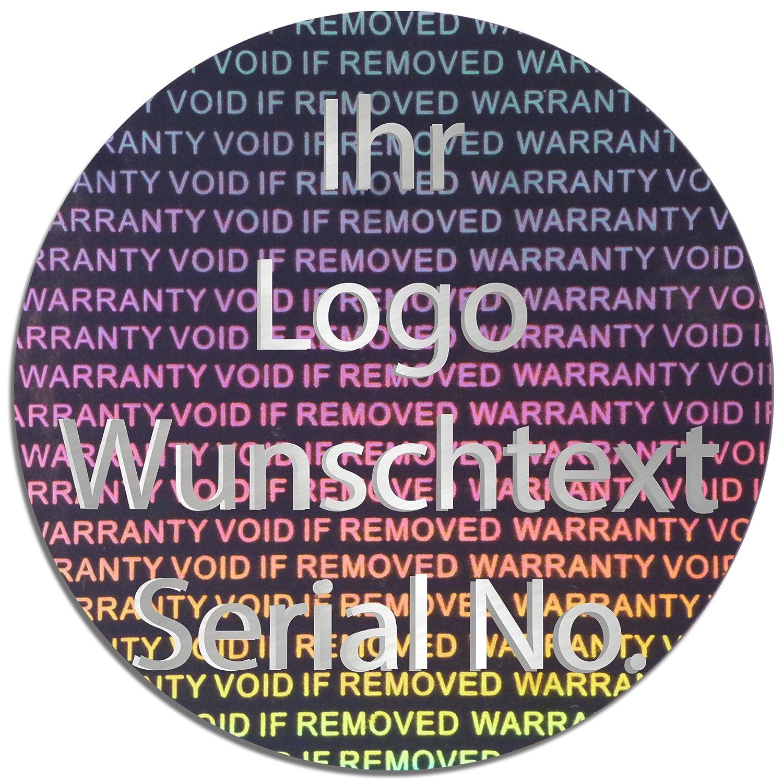 EtikettenWorld BV, EW-H-3000-SI-tsi-700, 700 Stück Stück Stück Hologrammaufkleber, 2D, 40mm rund silber-glänzendfarbige Metallfolie, bedruckt in silber-glänzend mit Ihrem Wunschtext Logo, Hologramm Etiketten, selbstklebend, Hologramm Aufkleber, Sicherh 6011ba