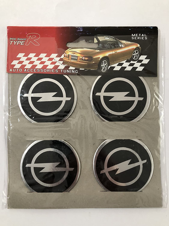 4x Emblema adhesivo de aluminio de Opel para tapacubos de 56 mm: Amazon.es: Coche y moto