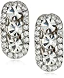 Nina 'Delinda' Elliptical Crystal Clip-On Earrings